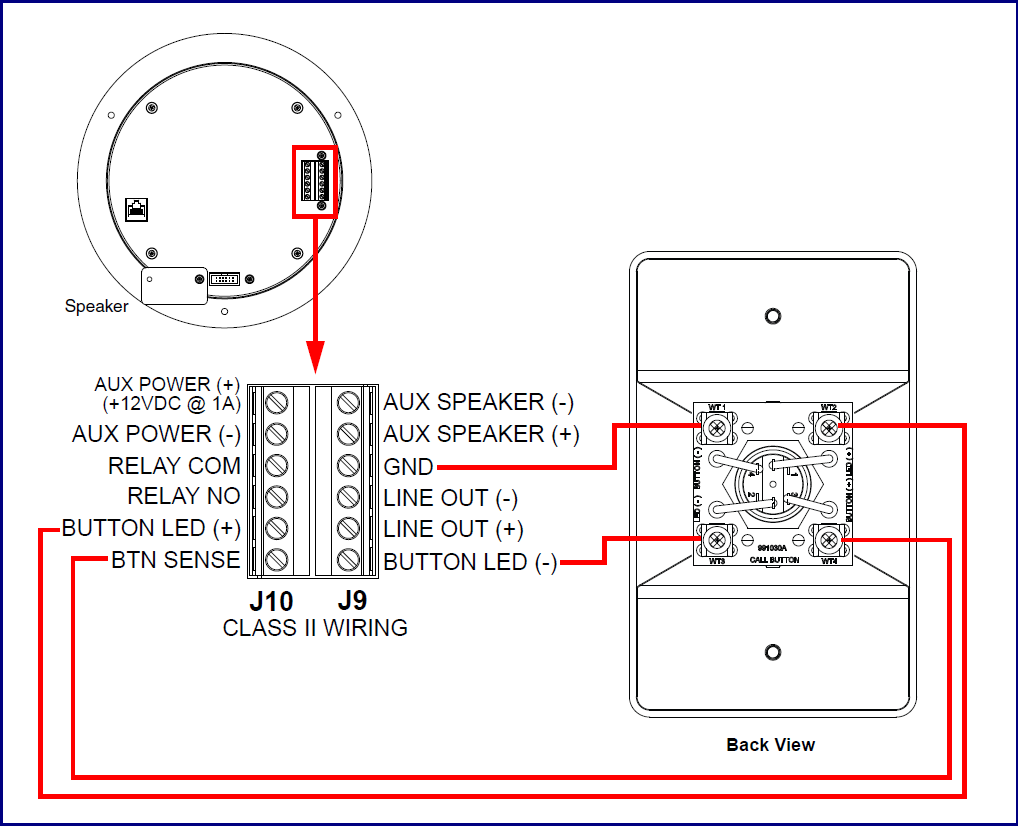 011185 Remote Call Button Cyberdata Corporation Push To Talk Switch Wiring Diagram Connections