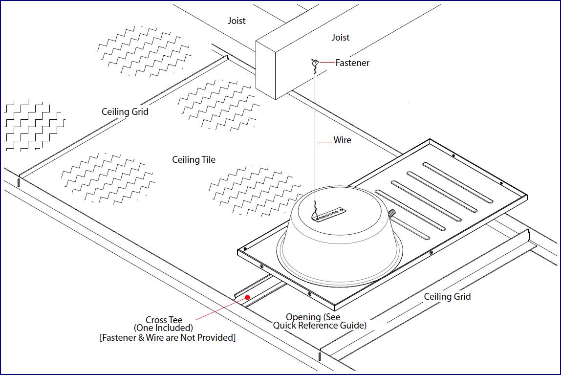 011200 Syn Apps Ceiling Tile Drop In Speaker Cyberdata Corporation