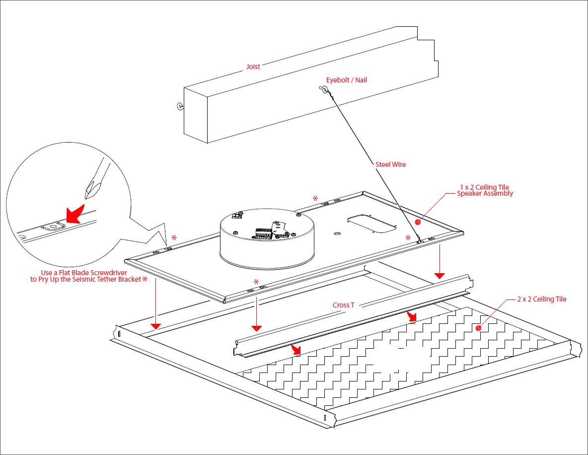 011402 Singlewire Informacastsip Ceiling Tile Drop In Speaker