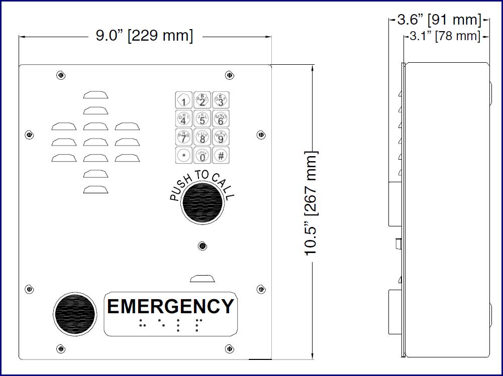 011463 SIP Heavy Duty Emergency Keypad Call Station