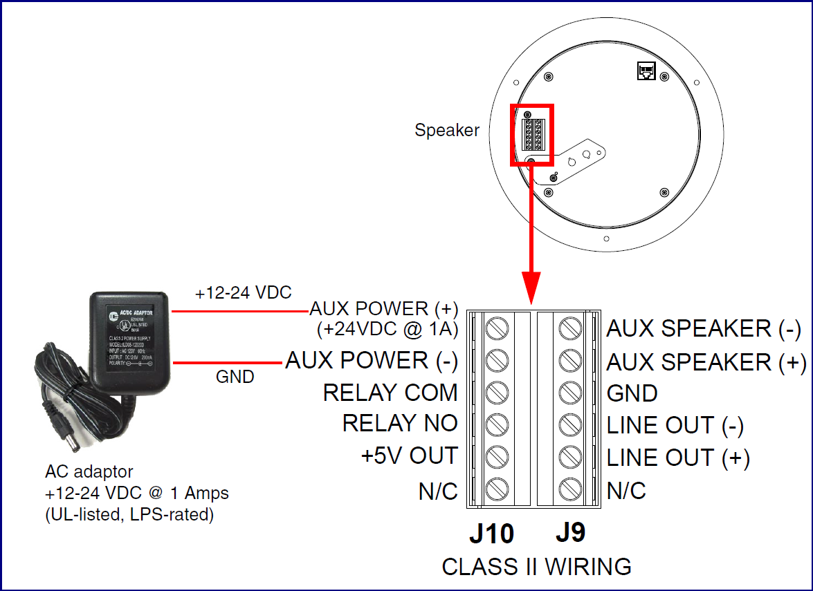 011397 011398 Sip Talk Back Speaker Cyberdata Corporation Parallel Wiring Speakers Calculator Led Strobe Auxilliary Analog